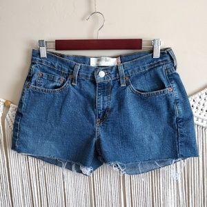 Levi's 515 Blue Denim MidRise Cutoff Jean Shorts 8